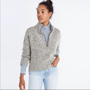 Madewell Marled Half Zip Small Sweater #H1150
